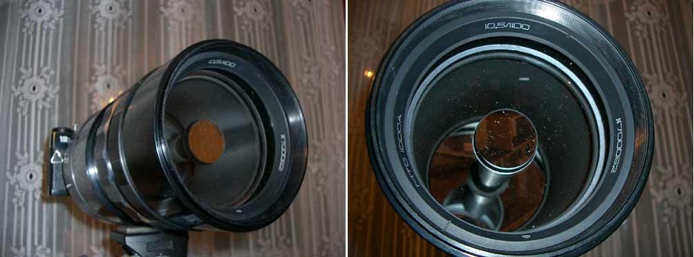 Зеркально-линзовый телеобъектив МТО-1000 (системы Максутова) .